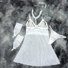 *Camisola em Tule Segredo da Paixão (SP613) - Branco - tabue.com.br