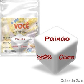 Dado Saquinho Unitário Div. Cubo (ST263) - O Que Sinto Por V... - tabue.com.br