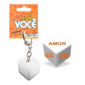 Dado Chaveiro (DC-ST265) - O Que Sinto Por Você - tabue.com.br