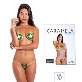 Tapa-Sexo Comestível Karamela Formato Flor (ST575) - Menta - tabue.com.br