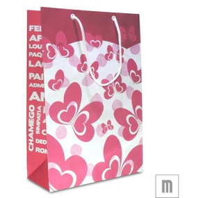Sacola Para Presente Média 31x10cm (17457-ST714) - Rosa - tabue.com.br