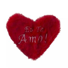Estojo em Pelúcia Formato de Coração (CP01 - CP02) -Vermelh... - tabue.com.br