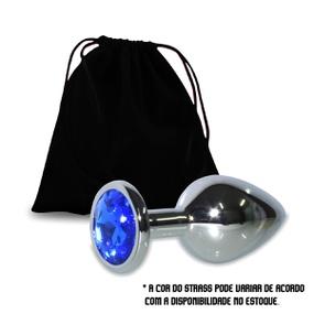 Plug Metálico Com Pedra Variadas VP (PL007G) - Cromado - tabue.com.br