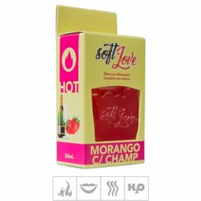 Gel Comestível Soft Love Hot 30ml (ST116) - Morango c/ Cham... - tabue.com.br
