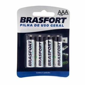 Pilha Palito AAA Comum 4un Brasfort (14784)-Padrão-Único - tabue.com.br