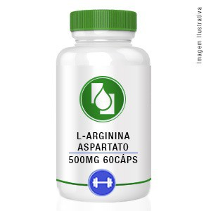 L-Arginina Aspartato 500mg 60cápsulas