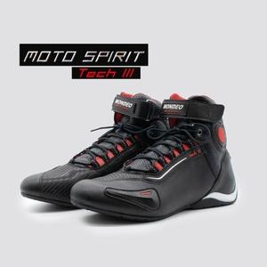 Moto Spirit Tech 3 Preto Vermelho - 9940 - BOTASMONDEO