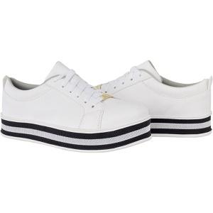 Tênis casual feminino CRshoes   Branco Solado Pret... - CRSHOES