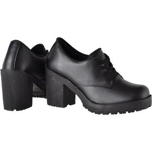 Oxford feminino tratorado CRshoes preto fosco - CRSHOES