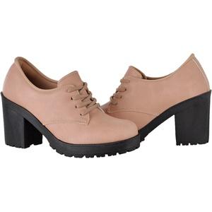Oxford feminino tratorado CRshoes rosa - CRSHOES
