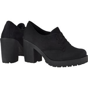 Oxford feminino tratorado CRshoes camurca preto - CRSHOES