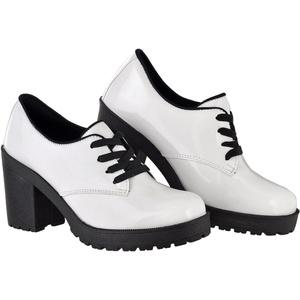 Oxford Feminino Tratorado CRshoes Branco - CRSHOES