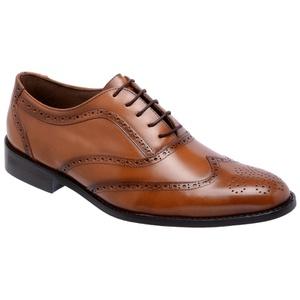 Sapato Social Oxford Cromo Argentino Caramelo - FrancaSapatos
