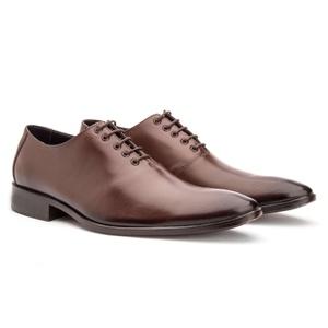 Sapato Social Masculino Oxford Couro Cromo Mouro 2... - FrancaSapatos
