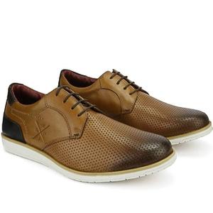 Sapato Masculino Brogue Derby Comfort Castor 605 - FrancaSapatos