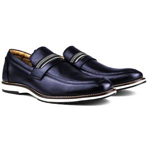 Sapato Masculino Brogue Derby Comfort Marinho 8000 - FrancaSapatos
