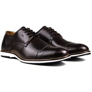 Sapato Masculino Brogue Derby Comfort Café 8005 - FrancaSapatos