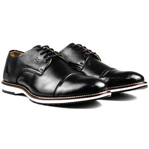 Sapato Masculino Brogue Derby Comfort Preto 8005 - FrancaSapatos