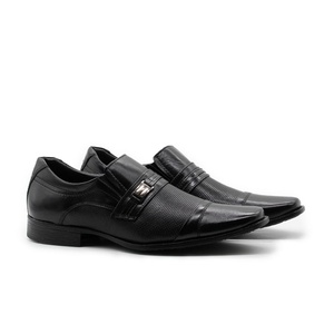 Sapatos Masculinos Social Estilo Italiano Cromo Pr... - FrancaSapatos