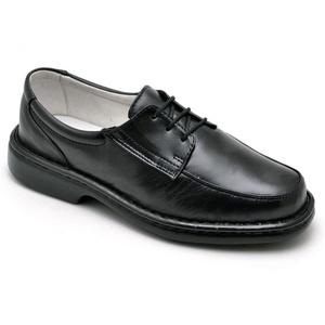 Sapato Casual Conforto Couro de Carneiro Preto 200 - FrancaSapatos