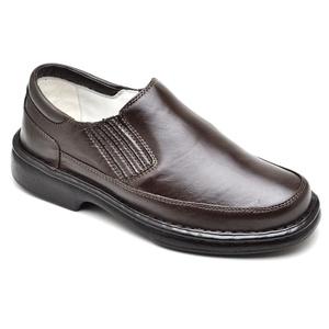 Sapato Casual Conforto Couro de Carneiro Marrom 20... - FrancaSapatos