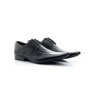 Sapato Social Masculino Couro Preto 400 - FrancaSapatos