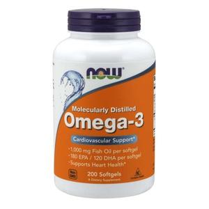 OMEGA3 -1000 MG FISH OIL - 180 EPA & 120 DHA - 200 CÁPSULAS