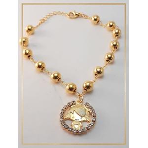 Pulseira Folheada Ouro 18k Menininha - 871 - MARINA JOIAS