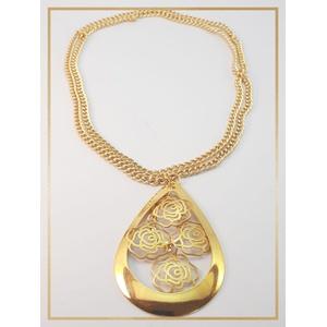 Colar folheado ouro 18k Flor Campos - 479 - MARINA JOIAS