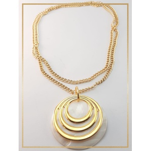 Colar folheado ouro 18k Chapa MadrePerola - 480 - MARINA JOIAS