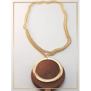 Colar folheado ouro 18k Madeira - 482 - MARINA JOIAS