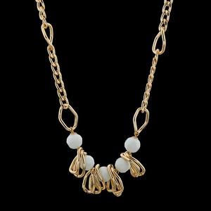 Colar folheado Ouro 18k Corrente Cristal - 397 - MARINA JOIAS