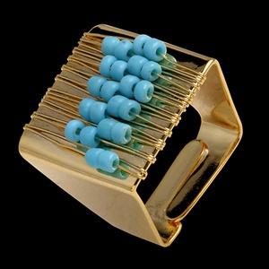 Anel folheado em ouro 18k Ábaco - 293 - MARINA JOIAS