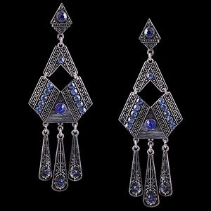 Maxi Brinco Triangular em Ouro Velho - 1363 - MARINA JOIAS