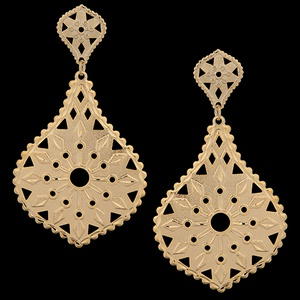 Brinco Folheado À Ouro Diamantado - 1477 - MARINA JOIAS