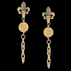 Brinco Folheado à Ouro Flor de Laranjeira - 1583 - MARINA JOIAS