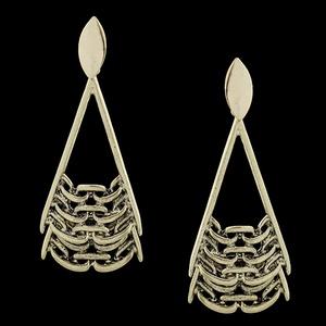 Brinco folheado Ouro Velho Brilhante - 1644 - MARINA JOIAS