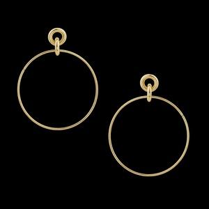 Brinco Folheado à Ouro Circulo - 2126 - MARINA JOIAS
