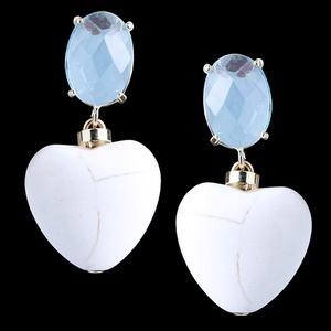 Brinco folheado à ouro 18k Cristal Céu Azul - 1345... - MARINA JOIAS