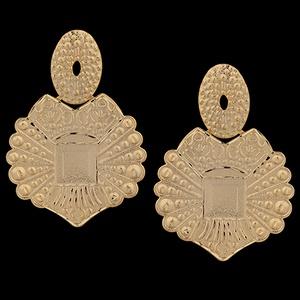 Brinco Folheado à Ouro Diamantado - 1473 - MARINA JOIAS