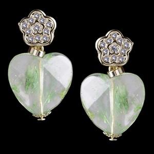 Brinco com Pedra Natural Fashion Green - 1319 - MARINA JOIAS