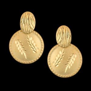 Brinco Folheado à Ouro Diamantado - 947 - MARINA JOIAS