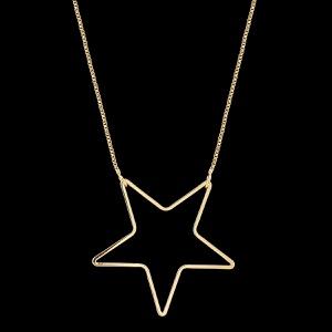 Colar Folheado à Ouro com Acessório Estrela - 333 - MARINA JOIAS