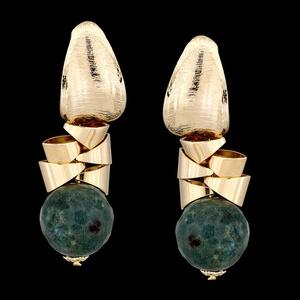 Brinco folheado à ouro 18k Índia Blue - 281 - MARINA JOIAS
