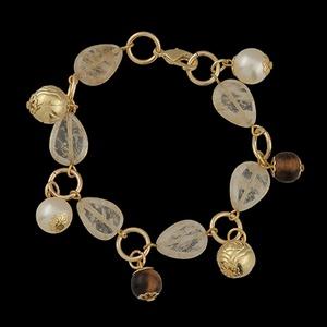 Pulseira Folheada Ouro Cristal Rutilado - 580 - MARINA JOIAS