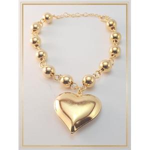 Pulseira Folheada Ouro 18k Acessories Heart - 850 - MARINA JOIAS
