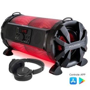 Caixa de som Amplificada Bluetooth Bazuka XB650 Polyvox 200w... - POLYVOX