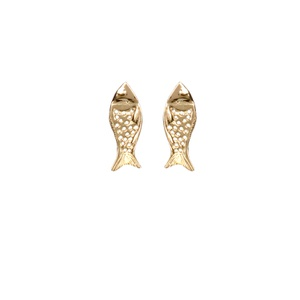 Brinco Baby Fish Gold | Coleção Be Flow - SANTONINA JOIAS