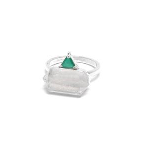 Anel Prisma Cristal | Coleção Prisma - SANTONINA JOIAS