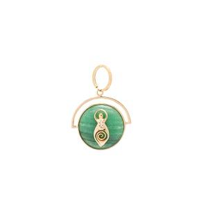 Pingente Medalha Pequena Deusa Dourado | Coleção G... - SANTONINA JOIAS